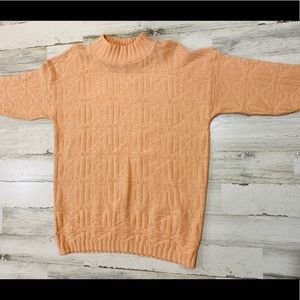 Vintage 80s Chunky Knit Oversized Abstract Sweater